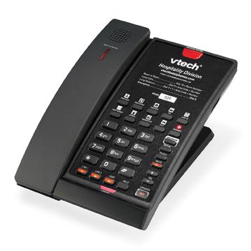 VTech 2-Line Contemporary SIP Cordless Phone Matte Black - 80-H0AT-13-000