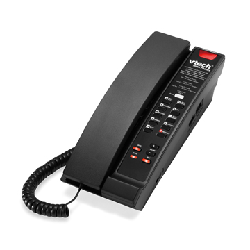 VTech 1-Line SIP Corded Petite Phone Matte Black - 80-H0C5-13-000