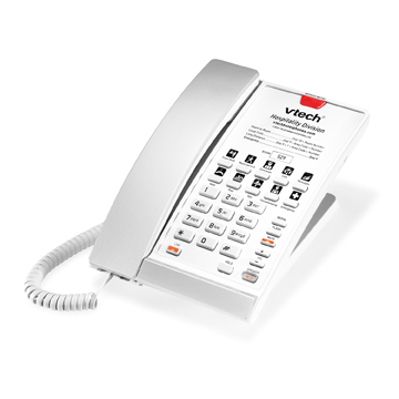 VTech 1-Line SIP Corded Phone Silver and Pearl - 80-H0C7-08-000