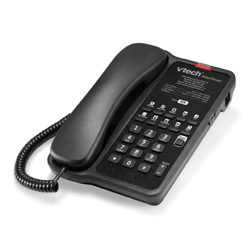 VTech Classic Analog Corded Lite Phone Matte Black - 80-H0AH-13-000
