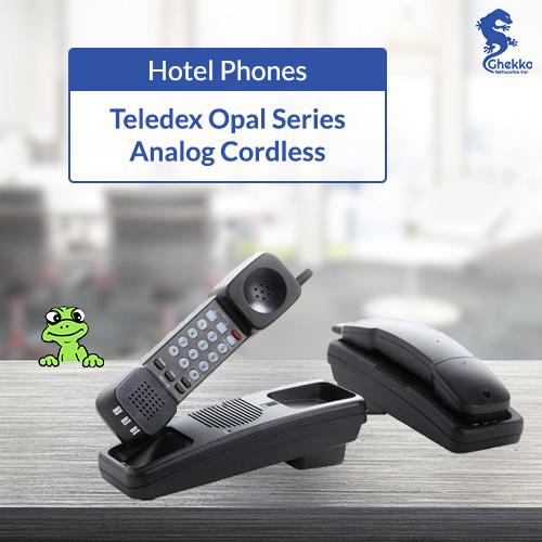 Teledex Opal Series Analog Cordless Hospitality Phones