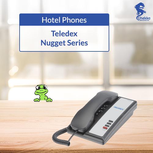 Teledex Nugget Black - Ghekko hotel phones