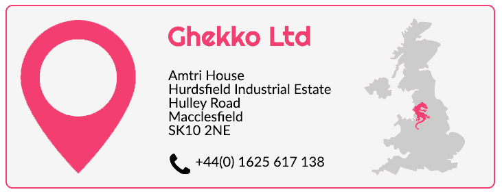 Ghekko contact details UK office