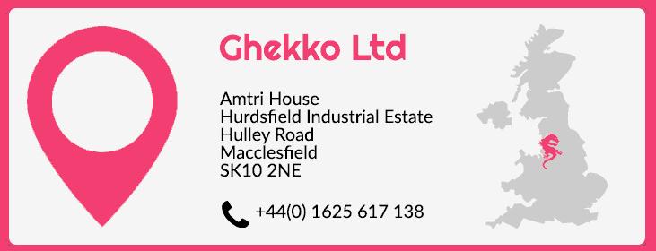 Ghekko contact details UK office